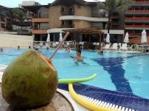 Nada como tomar un coco en la piscina