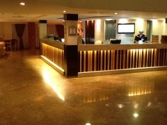 Recepción del hotel