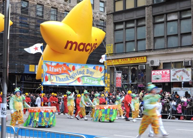 Desfile del dia de accion de gracias macys