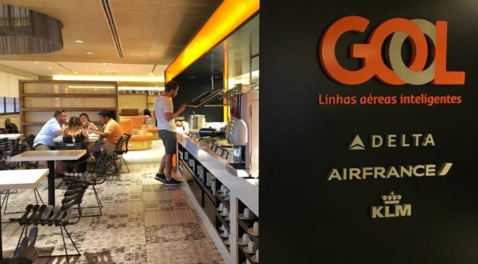 Salón VIP de Gol para salidas internacionales en Guarulhos