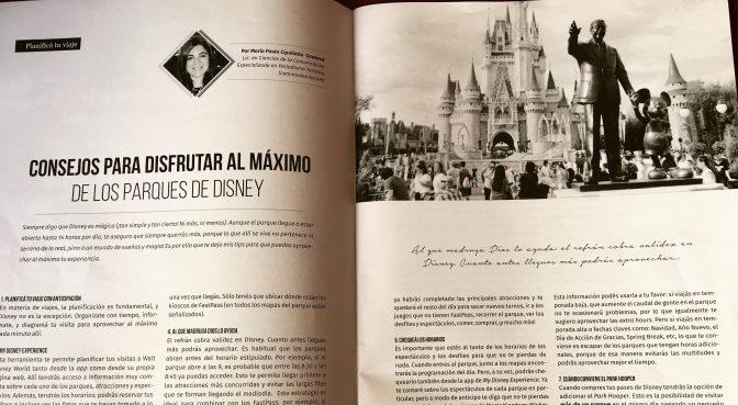 Mis tips para visitar los parques de Disney en la revista Mirala