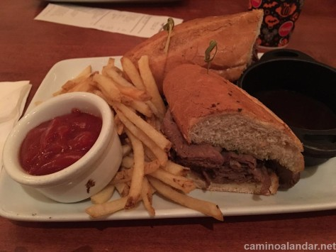french dip Be our guest restaurant disney
