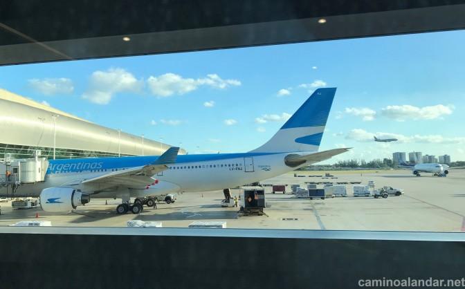 Volando en Clase Business de Aerolíneas Argentinas: AR1305 Miami – Buenos Aires