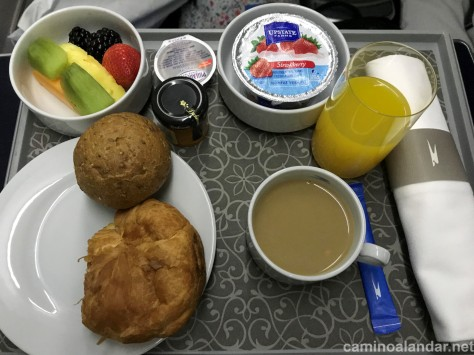 desayuno business aerolineas argentinas