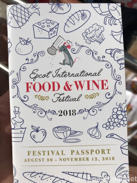 pasaporte Epcot Food and wine festival