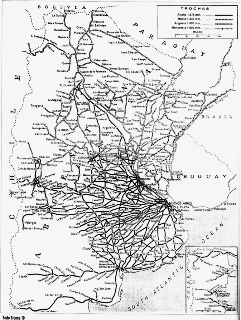 Red ferroviaria argentina